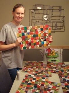 Recycled Christmas Placemats!  •  Free tutorial with pictures on how to make a placemat in under 30 minutes