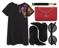 """""""street style"""" by sisaez ❤ liked on Polyvore featuring MANGO, Isabel Marant, Chanel, Yves Saint Laurent and Gucci"""