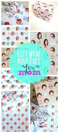 Create your own selfie gift wrap for #MothersDay! We all know what mom wants: pictures of her babies! Whether it's for grandma, a new mom or  a mom with adult children, she'll be talking about this wrapping paper for years to come!