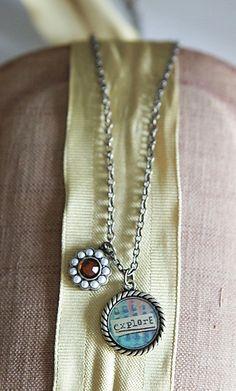 Necklace Charm-Explore   Garden Gallery Iron Works