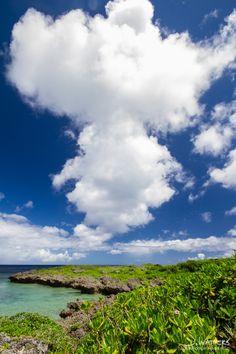 Beach in Onna, Okinawa, Japan
