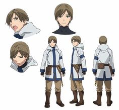 Grimgar of Fantasy and Ash Anime Reveals Cast, Character Designs - News - Anime News Network:SEA Character Model Sheet, Character Modeling, Character Concept, Character Creation, Character Art, Concept Art, Character Reference, Character Ideas, Anime Oc