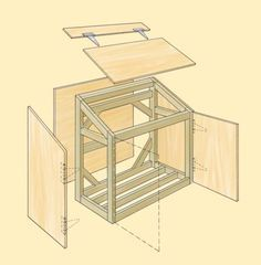 instructions on how to build a trash shed