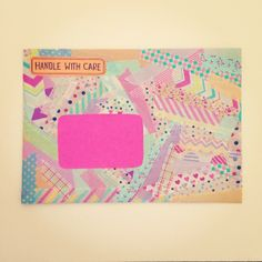 .@paperedthoughts   creating with #washitape this #lazy #sunday afternoon  #envelope #mail #maila...   Webstagram