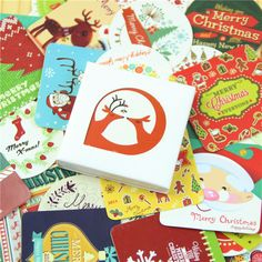 38 Pcs/box Mini Christmas Paper Sticker Decoration Decal Diy Album Scrapbooking Seal Sticker Kawaii Stationery Gift