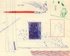 David Hockney, Etching is the subject on ArtStack #david-hockney #art