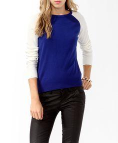 Colorblocked Raglan Sweater | FOREVER21 - 2021839750