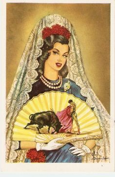 reminded me of the opera Carmen I saw years ago Spanish Posters, Spanish Art, Spanish Dancer, Vintage Posters, Vintage Art, Jorge Gonzalez, Cowgirl Pictures, Calendar Girls, Vintage Birthday