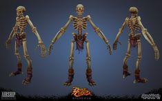 ArtStation - Battle Chasers Nightwar Skeleton, Bandit, Skeleton Bowman , OMNOM! workshop