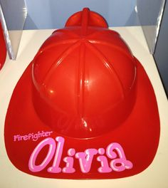 Personalized Firefighter hat perfect for birthday party favor, babyshower centerpiece, dress up, halloween and more. $3.25, via Etsy.