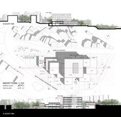3. Ödül, Süleymanpaşa Belediye Hizmet Binası Mimari Proje Yarışması Town Country Haus, Restaurant Plan, Hospital Design, Presentation Layout, Site Plans, Layout Design, Architecture Design, Floor Plans, Concept