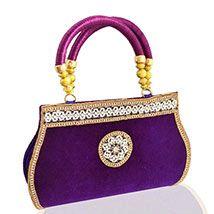 Purple Velvet Royal Clutch