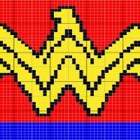 Wonder woman logo - Stitch Fiddle