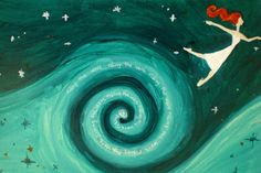 Flying Girl and The Seventh Wave or Perspective by rowenamurillo,