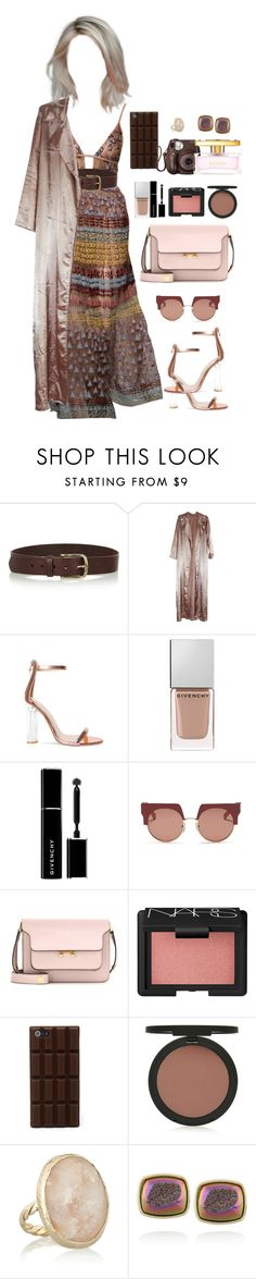 """""""Airport - Arriving at Milan"""" by stylist-daily ❤ liked on Polyvore featuring Isabel Marant, Givenchy, Marni, NARS Cosmetics, Fujifilm, Topshop, Dara Ettinger and ESCADA"""