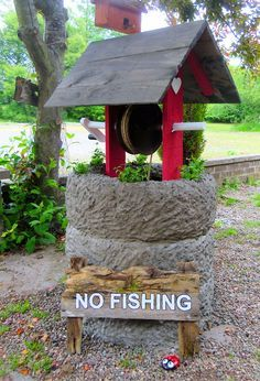 recycled tire wishing well - Google Search