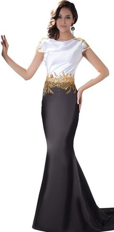 Herafa Mermaid Black Evening Gown.