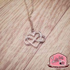 Collar Infinite Heart Infinite, Ladybug, Bugs, Heart, Silver, Jewelry, Chokers, Necklaces, Creativity