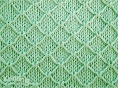 Trellis stitch  |  Like all slip stitches, it compresses in height, so it's good for warm outerwear or scarf.