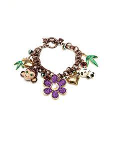 Betsey Johnson monkey & panda charm bracelet  (omg...I so want)