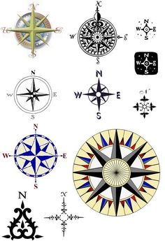 compass tattoo | Nautical Compass Rose Tattoos