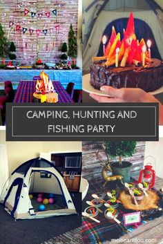 The perfect party for your outdoor enthusiast! Camp, hunt and fish your heart out! Quick, cheap, and easy birthday party ideas for boys! Wish you happy camper a happy birthday with this amazing party!