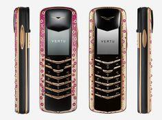 I never heard of Vertu before, but apparently they create ultra-luxurious cellphones. Diamonds, gold, platinum....yep they got it.