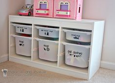 Organization for the kids' new room(s) when we move. This is neat!