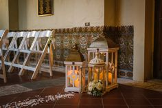 Elegant Wedding Ceremony with White Flower Petal Lined Aisle and Decorative Lanterns with Hydrangea   St Petersburg Wedding Planner Kimberly Hensley Events at St. Pete Wedding Venue The Museum of Fine Art