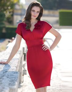 Sophisticated red dress
