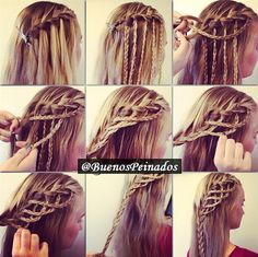 New twist to the waterfall braid: Game of thrones inspired?