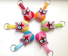 Felt owl keyring, Felt key chain, Owl keychain. Handmade soft Felt owl. Owl Decoration. Owl Ornament. Please choose one colour. via Etsy