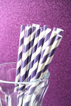 striped straws