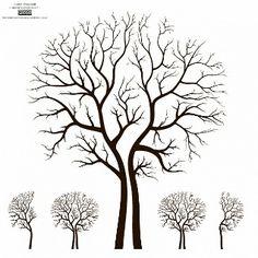 Blattlosen Autumn Tree Design Vector