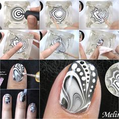 Do you do your own nail art? Instead of applying regular nail polish, let's try something new and creative! Here is a nice DIY tutorial on how to make water marble nail art. Isn't that amazing? Just mix the black and white nail polish with water and use an orange …