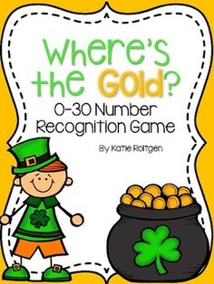 This is a fun activity that will add some St. Patrick's Day fun to your classroom! Best of all, this resource includes two versions of the activity! The purpose of the game is to hide the pot of gold behind a number (0-30), and then have the students guess where the pot of gold is by naming the number.