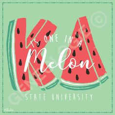 Geneologie | Greek Tee Shirts | Greek Tanks | Custom Apparel Design | Custom Greek Apparel | Sorority Tee Shirts | Sorority Tanks | Sorority Shirt Designs | Sorority Shirt Ideas | Greek Life | Hand Drawn | Sorority | Sisterhood | Watermelon | Sorority Pride | slogan | One in a Melon | Kappa Delta | KD | Sorority Name