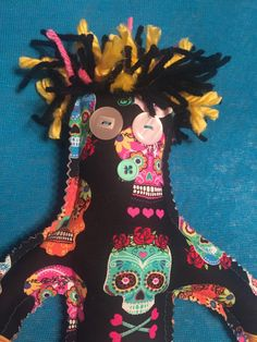 A personal favorite from my Etsy shop https://www.etsy.com/listing/246158881/sugar-skull-dammit-doll-day-of-the-dawn