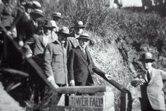 President Calvin Coolidge at Tower Fall; Around 1927 Past Presidents, American Presidents, Historical Sites, Historical Photos, Tower Falling, Calvin Coolidge, One Summer, Day Of My Life, United States