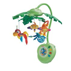 Fisher-Price Rainforest Peek-A-Boo Leaves Musical Mobile, Green