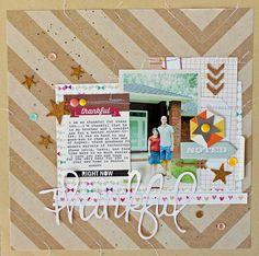 #papercraft #scrapbook #layout    Thankful---Layout by Melissa Mann