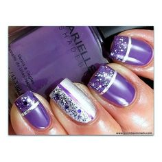 Nail Art Photos Nail, nail, nail Barielle Grape Escape, Night Moves & Purple Hearts (the glitter topcoat)
