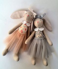 Personalized baby gifts Kids toys Stuffed toy Gift for sisters Bunny doll Fabric toy Rag doll Bunny plush Bunny Rabbit Sisters