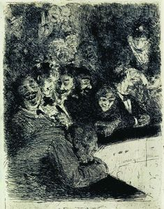 In the upper tier of the theater - Ilya Repin