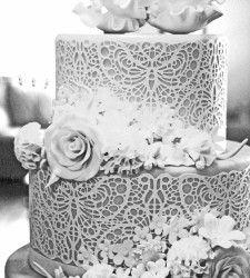 Ella's Celestial Cakes, Sugar Veil, Sugar Dress, Butterfly Wedding Cake, Gum Paste Flowers