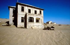 Kolmanskop in the Namib desert in southern Namibia, a few kilometres inland from the port town of Lüderitz