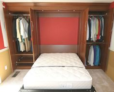murphy bed with side closet - Google Search