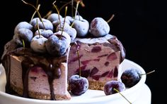 <p>Chocolate and cherries are the ultimate dream team, and they are especially spectacular in this no-bake cheesecake!</p>
