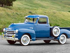 I love this old blue truck.