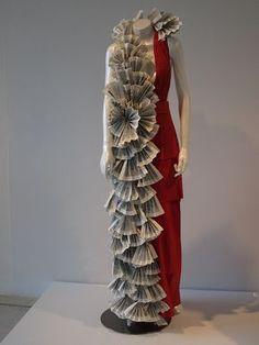 paper dress decoration